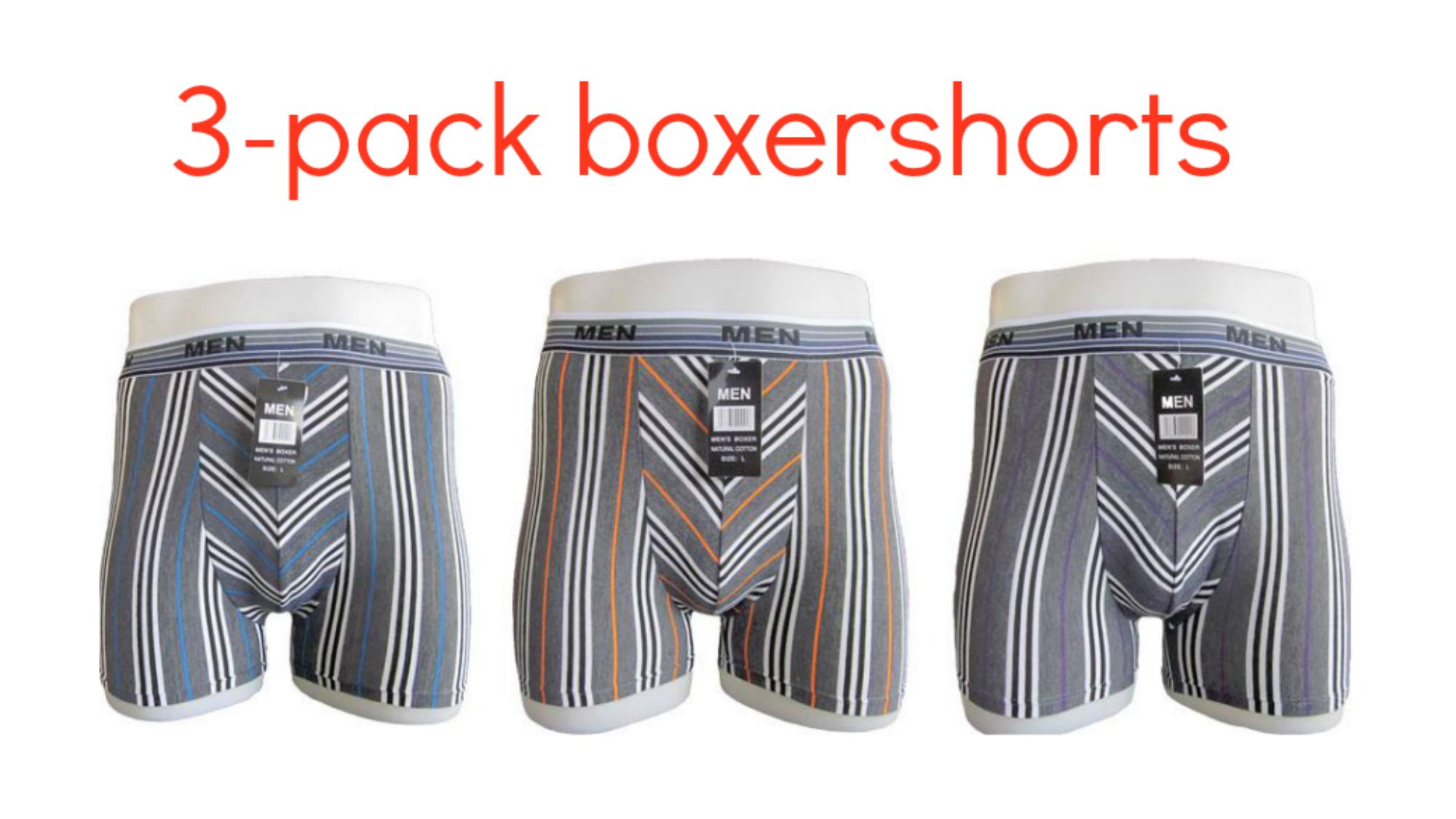 Boxershort pakket basic kleuren- 12 stuks
