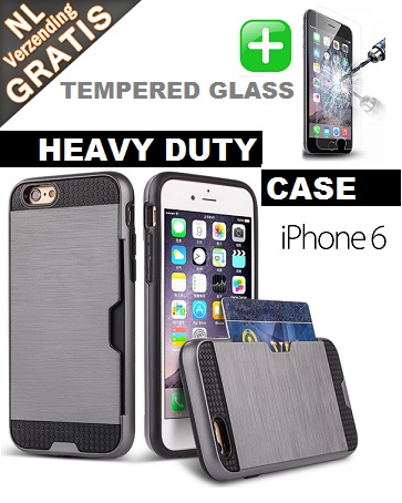 iPhone 6-6s Multi Case + Tempered Glass!