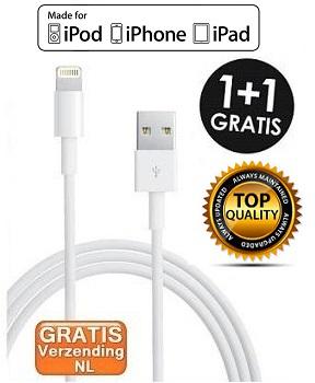 USB Lightning Kabel 1+1 GRATIS