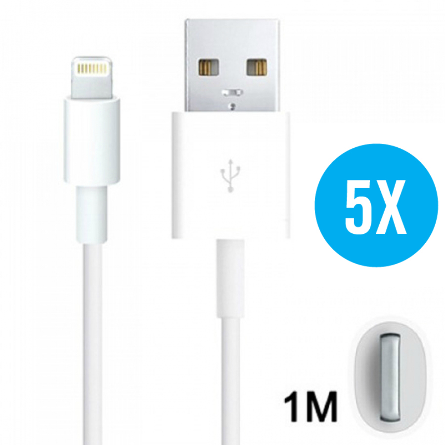 5 Pack 8-Pin to USB kabel